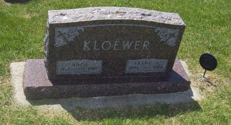 KLOEWER, ANNA - Shelby County, Iowa   ANNA KLOEWER