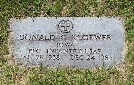 KLOEWER, DONALD G. (MILITARY) - Shelby County, Iowa | DONALD G. (MILITARY) KLOEWER