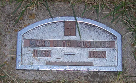 KLOEWER, MARY BETH - Shelby County, Iowa | MARY BETH KLOEWER