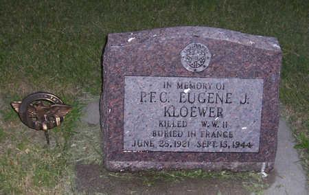 KLOEWER, PFC EUGENE J. - Shelby County, Iowa | PFC EUGENE J. KLOEWER