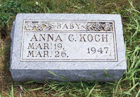 KOCH, ANNA C. (BABY) - Shelby County, Iowa | ANNA C. (BABY) KOCH