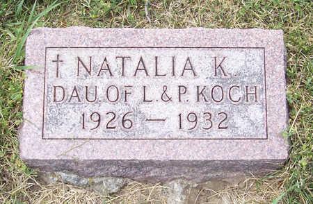 KOCH, NATALIA K. - Shelby County, Iowa   NATALIA K. KOCH