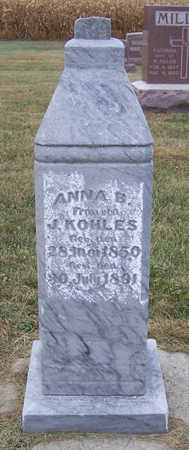 KOHLES, ANNA B. - Shelby County, Iowa | ANNA B. KOHLES