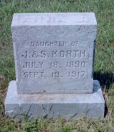 KORTH, ANNA J. - Shelby County, Iowa | ANNA J. KORTH