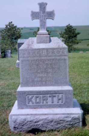 KORTH, ANNA ROSALIA - Shelby County, Iowa   ANNA ROSALIA KORTH