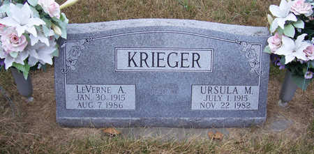 KRIEGER, LEVERNE A. - Shelby County, Iowa | LEVERNE A. KRIEGER
