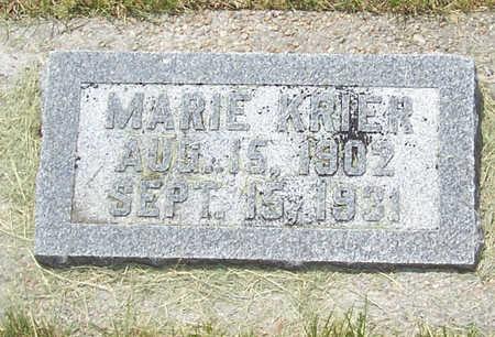 KRIER, MARIE - Shelby County, Iowa   MARIE KRIER