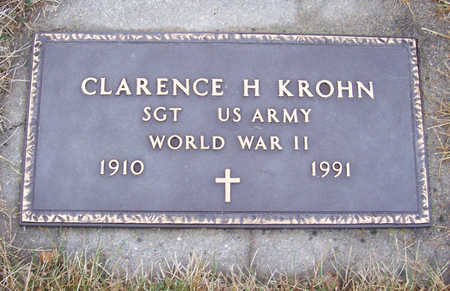 KROHN, CLARENCE H. (MILITARY) - Shelby County, Iowa   CLARENCE H. (MILITARY) KROHN