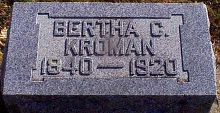 KROMAN, BERTHA C - Shelby County, Iowa | BERTHA C KROMAN