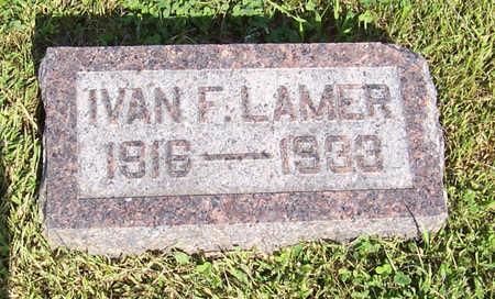 LAMER, IVAN F. - Shelby County, Iowa   IVAN F. LAMER