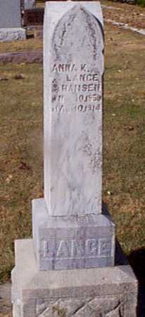 HANSEN LANGE, ANNA K - Shelby County, Iowa | ANNA K HANSEN LANGE