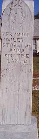 LANGE, ANNA KIRSTINE - Shelby County, Iowa | ANNA KIRSTINE LANGE