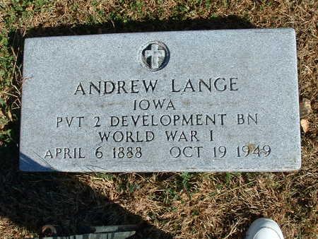 LANGE, ANDREW - Shelby County, Iowa   ANDREW LANGE