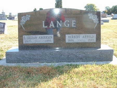 LANGE, E LILLIAN - Shelby County, Iowa | E LILLIAN LANGE