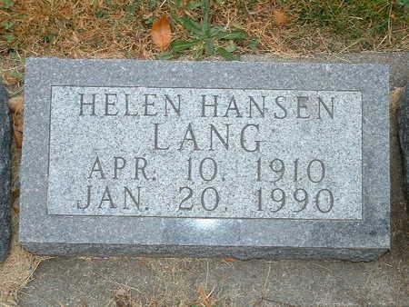 HANSEN LANGE, HELEN GENEVIEVE - Shelby County, Iowa | HELEN GENEVIEVE HANSEN LANGE