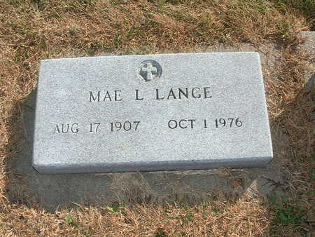 LANGE, MAE L - Shelby County, Iowa | MAE L LANGE