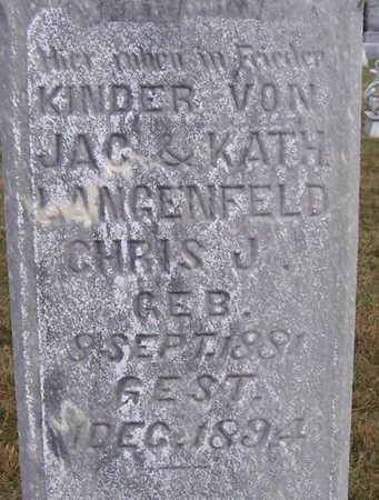 LANGENFELD, CHRIS J. (CLOSE UP) - Shelby County, Iowa | CHRIS J. (CLOSE UP) LANGENFELD