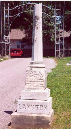 LANGTON, JESSIE BENTON - Shelby County, Iowa | JESSIE BENTON LANGTON