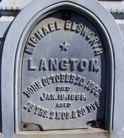LANGTON, MICHAEL ELSWORTH - Shelby County, Iowa | MICHAEL ELSWORTH LANGTON