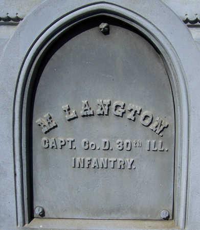 LANGTON, M. (MILITARY) - Shelby County, Iowa   M. (MILITARY) LANGTON