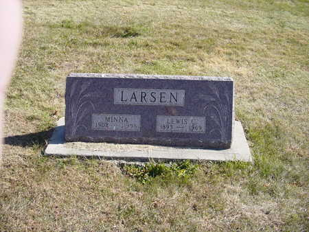 CARLSEN LARSEN, MINNA OR  MINNIE - Shelby County, Iowa | MINNA OR  MINNIE CARLSEN LARSEN