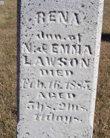 LAWSON, RENA (CLOSE-UP) - Shelby County, Iowa | RENA (CLOSE-UP) LAWSON
