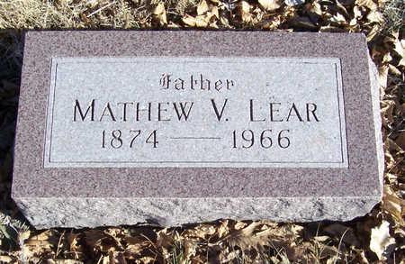LEAR, MATHEW V. (FATHER) - Shelby County, Iowa   MATHEW V. (FATHER) LEAR