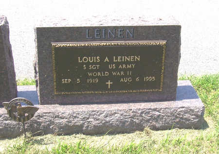 LEINEN, LOUIS A. (MILITARY) - Shelby County, Iowa | LOUIS A. (MILITARY) LEINEN