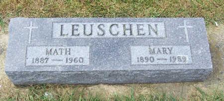 LEUSCHEN, MATH & MARY - Shelby County, Iowa | MATH & MARY LEUSCHEN