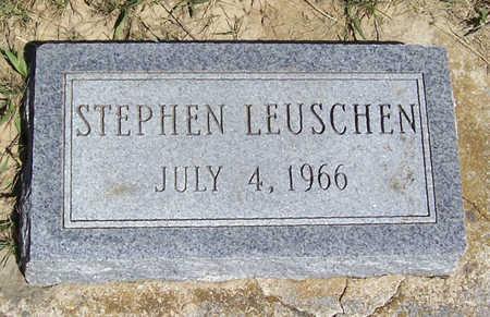 LEUSCHEN, STEPHEN - Shelby County, Iowa   STEPHEN LEUSCHEN