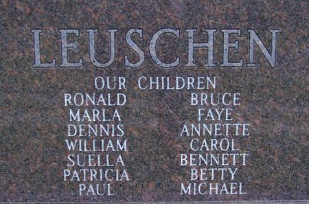 LEUSCHEN, WILLIAM B. (REVERSE) - Shelby County, Iowa | WILLIAM B. (REVERSE) LEUSCHEN