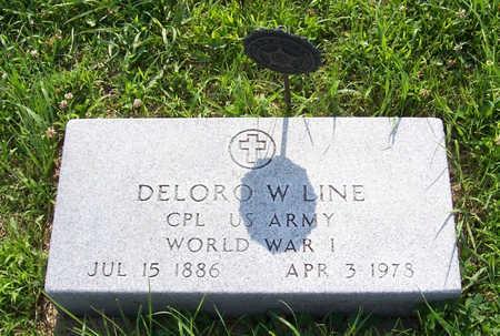 LINE, DELORO W. (MILITARY) - Shelby County, Iowa   DELORO W. (MILITARY) LINE