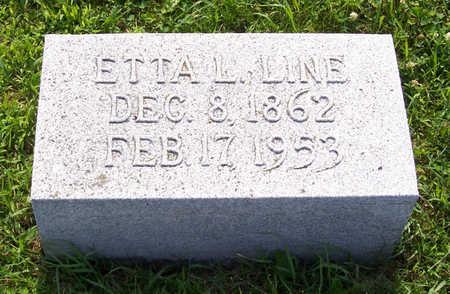 LINE, ETTA L. - Shelby County, Iowa | ETTA L. LINE
