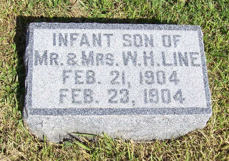 LINE, INFANT SON - Shelby County, Iowa   INFANT SON LINE
