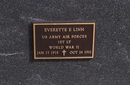 LINN, EVERETTE E. (MILITARY) - Shelby County, Iowa   EVERETTE E. (MILITARY) LINN