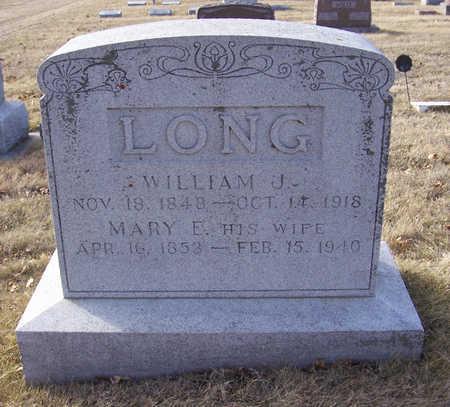 LONG, WILLIAM J. & MARY E. (LOT) - Shelby County, Iowa | WILLIAM J. & MARY E. (LOT) LONG