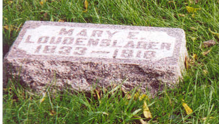LOUDENSLAGER, MARY E. - Shelby County, Iowa | MARY E. LOUDENSLAGER
