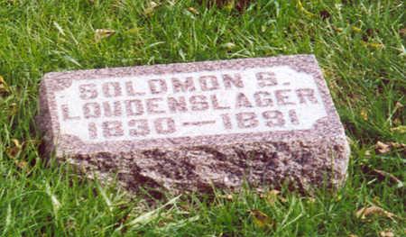 LOUDENSLAGER, SOLOMON S. - Shelby County, Iowa   SOLOMON S. LOUDENSLAGER