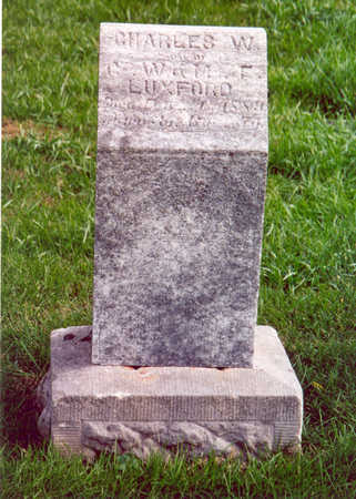 LUXFORD, CHARLES W. - Shelby County, Iowa   CHARLES W. LUXFORD