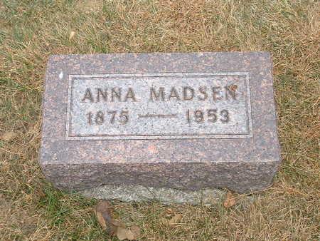 MADSEN, ANNA - Shelby County, Iowa   ANNA MADSEN