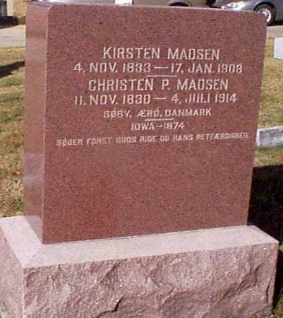MADSEN, CHRISTEN P. - Shelby County, Iowa   CHRISTEN P. MADSEN