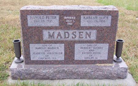 MADSEN, KAREAN ALICE - Shelby County, Iowa   KAREAN ALICE MADSEN