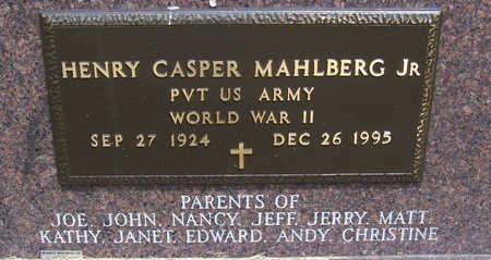 MAHLBERG, HENRY CASPER, JR. (MILITARY) - Shelby County, Iowa | HENRY CASPER, JR. (MILITARY) MAHLBERG