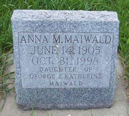 MAIWALD, ANNA M. - Shelby County, Iowa | ANNA M. MAIWALD