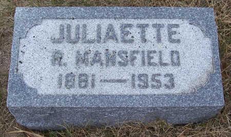 MANSFIELD, JULIAETTE R. - Shelby County, Iowa   JULIAETTE R. MANSFIELD