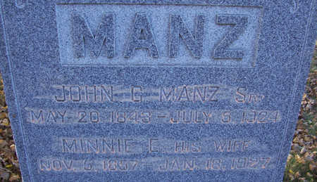 MANZ, MINNIE E. (CLOSE-UP) - Shelby County, Iowa | MINNIE E. (CLOSE-UP) MANZ