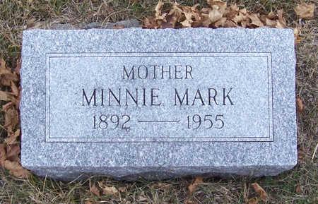 MARK, MINNIE (MOTHER) - Shelby County, Iowa   MINNIE (MOTHER) MARK