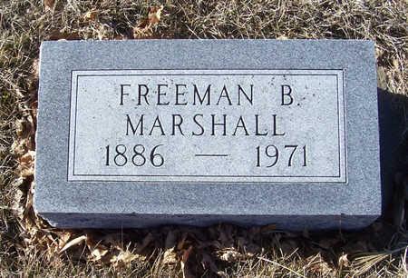 MARSHALL, FREEMAN B. - Shelby County, Iowa   FREEMAN B. MARSHALL