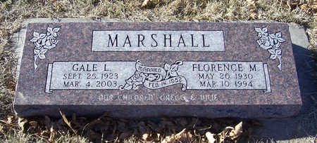 MARSHALL, FLORENCE M. - Shelby County, Iowa | FLORENCE M. MARSHALL