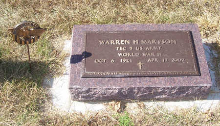 MARTSON, WARREN H. (MILITARY) - Shelby County, Iowa | WARREN H. (MILITARY) MARTSON